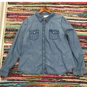 Forever 21 soft denim top. Button up